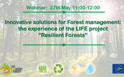 Project Webinar: Innovative solutions for Forest management: the experience of LIFE Resilient Forests