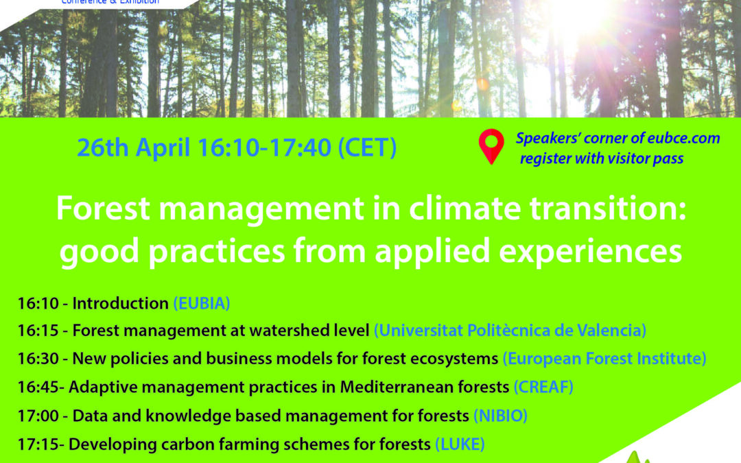 Five EU projects discussing Forest Management at EUBCE